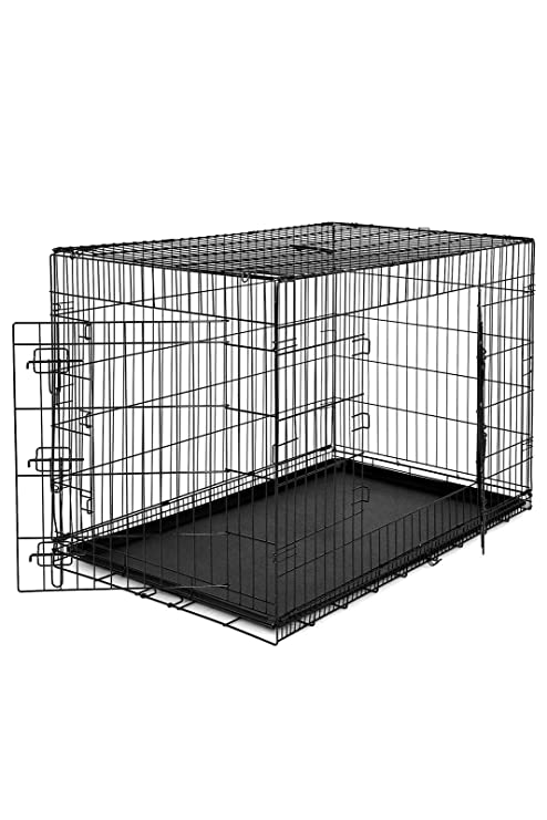 Dibea Cage avec 2 Portes Pliable/Transportable avec avec avec Poignées/Plateau 6202c7
