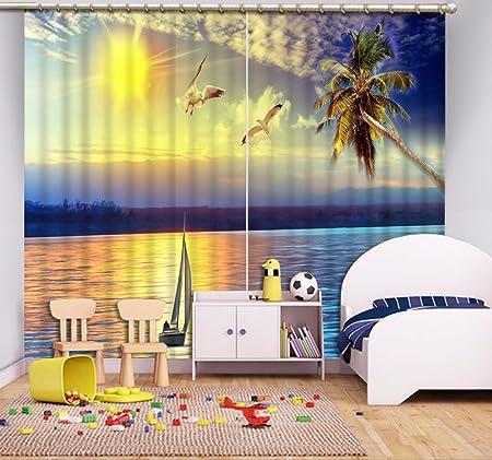 Sproud Meer Landschaft Gardinen Wunderschöne Hd Realistischen 3D Vorhänge  Für Wohnzimmer Schlafzimmer Fenster Dekoration