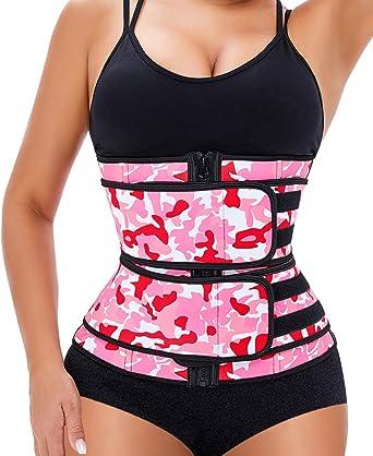 Manladi Zipper Waist Trainer Corset For Women Everyday Workout Body Shaper Cincher Sweat Plus Size Shapewear Girdle