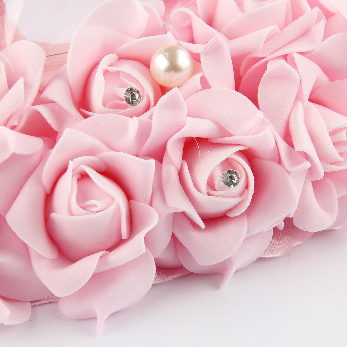 Wedding Ring Cushion Ring Box, Onebopo Wedding Hang Flower Love ...