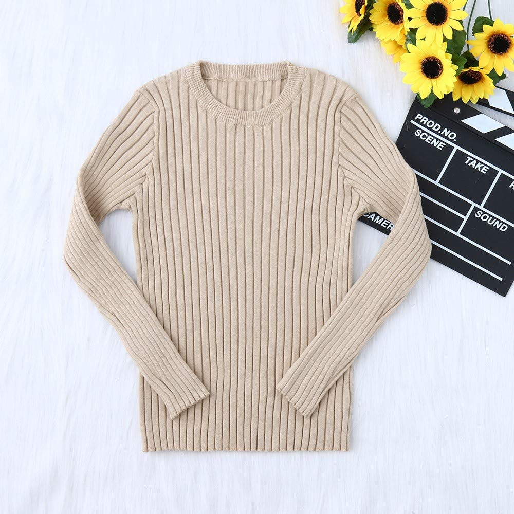 TM Toddler Kids Little Girl Boy Ribbed Knit Sweater Soft Warm Sweater Pullover for 0-5 Y Little Kids Sweater,Jchen