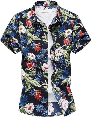 20 Estilos Camisa de Verano para Hombres Camisas Florales de Manga Corta para Hombres Casual Hawaii Estampado de Flores Informal Vacaciones en la Playa 6XL 7XL Hawaiana Hombre: Amazon.es: Ropa y accesorios