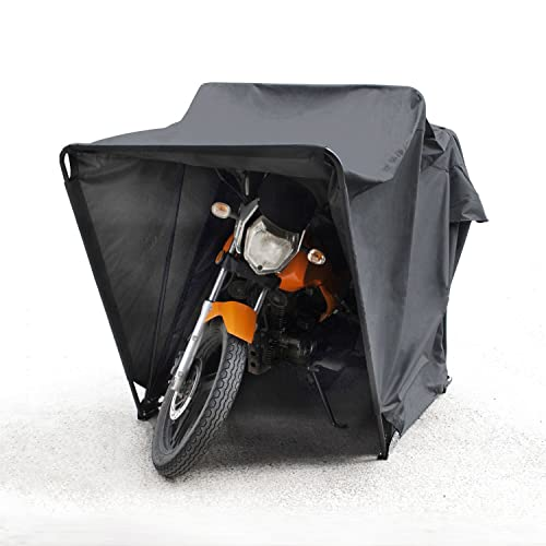 Generic new motorbike folding cover outdoor tent garage motorcycle motor bike shed storage - Motorcycle foldable garage tent cover ...