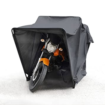 Tekbox Outdoor Motorbike Bike Tent Cover Shed Strong Frame Storage Garage Weatherproof Motorcycle Moped Mobility Scooter Regular
