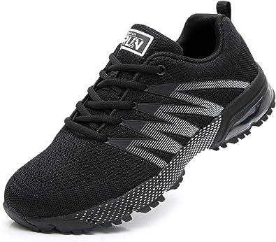 AZOOKEN Hombre Mujer Zapatillas de Gimnasia Running Zapatos ...