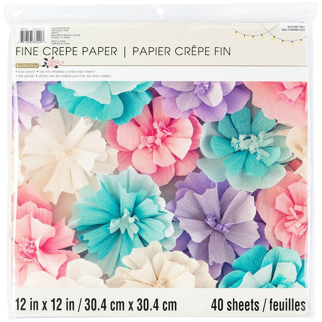 Amazon.com: Recollections Fine Crepe Paper - Backyard Table Pastels ...