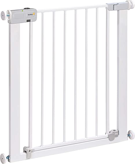 Safety 1st Auto Close Barrera seguridad niños, Barrera escalera bebé y perros, cierre automatico ultra seguro, 80 cm hasta 136 cm con extensiones, color blanco: Amazon.es: Bebé