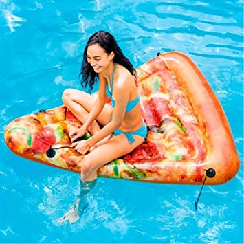 Trade Shop traesio colchón Hinchable impresión Realista Pizza ...