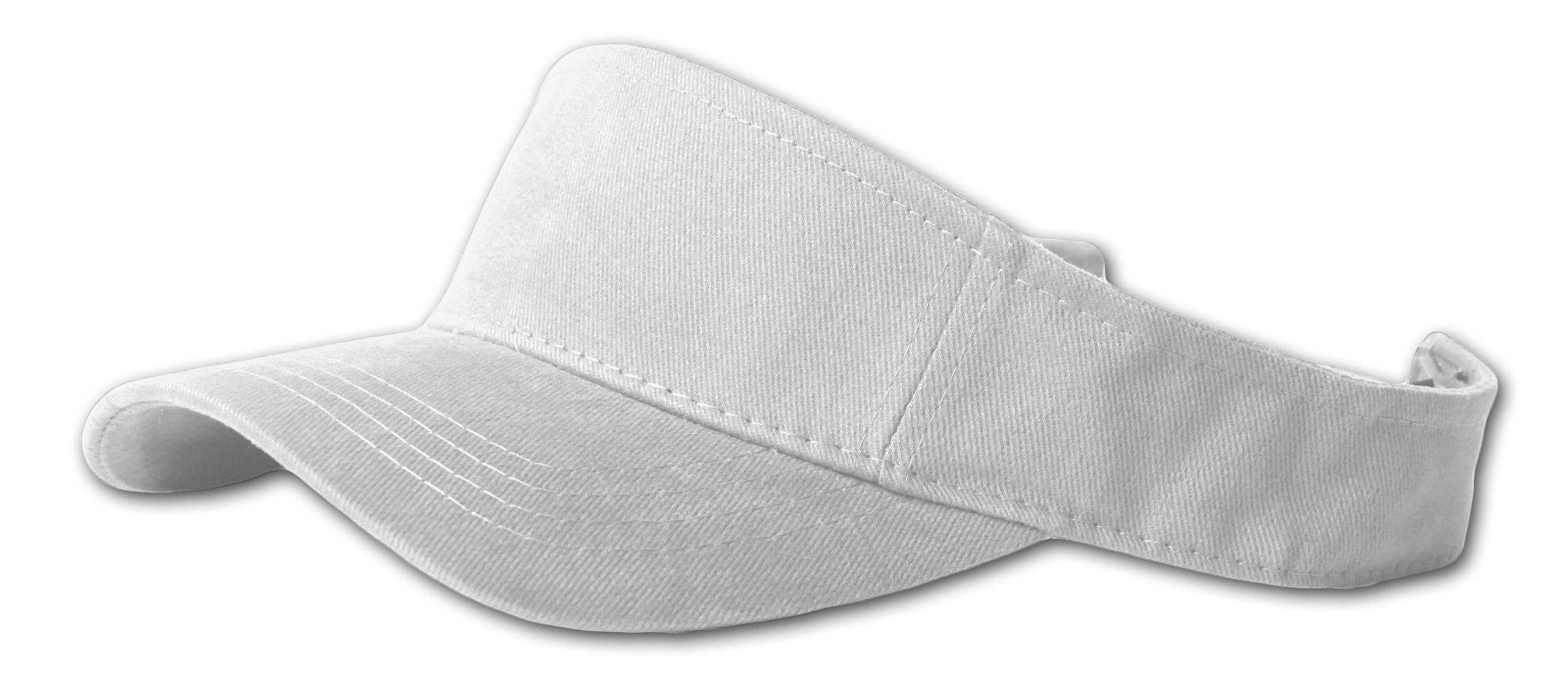 12 Lot (One Color) Visor Caps- White