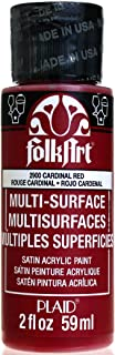 product image for FolkArt Multi-Surface Paint in Assorted Colors (2 oz), 2900, Cardinal Red
