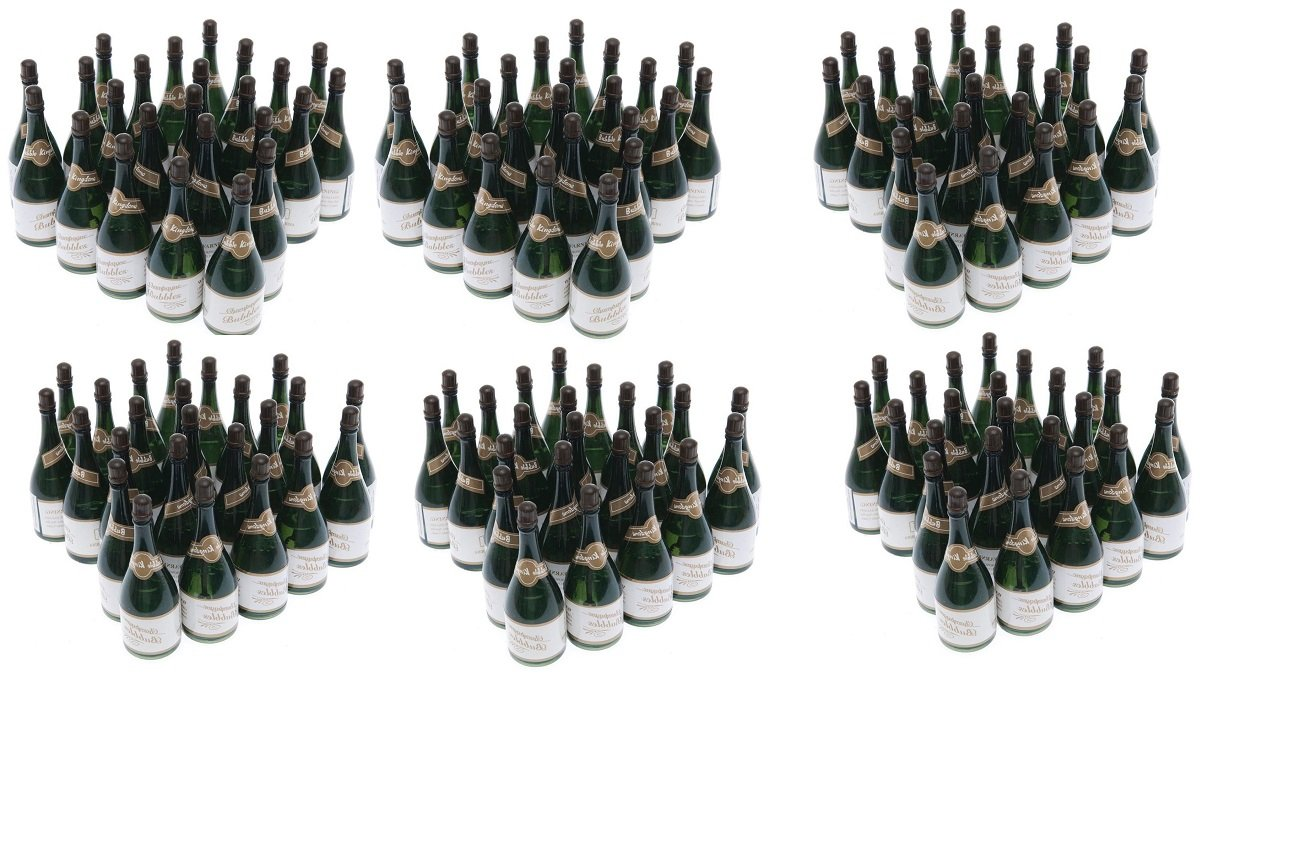 Nicky Bigs Novelties 144 Mini Champagne Bottles Wedding Bubbles New Years Eve Graduation Party Favors by Nicky Bigs Novelties