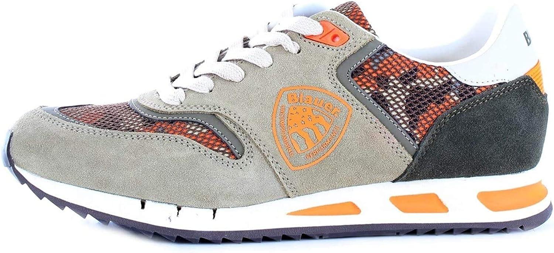 BLAUER 9SMEMPHIS06/CAM Zapatillas Hombre Military 40: Amazon.es: Zapatos y complementos