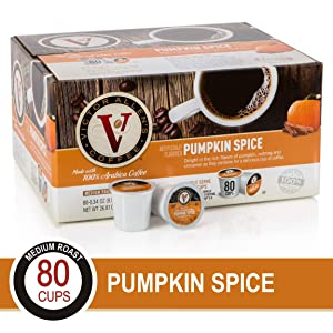 Pumpkin Spice for K-Cup Keurig 2.0 Brewers, 80 Count, Victor Allen's Coffee Medium Roast Single Serve Coffee Pods