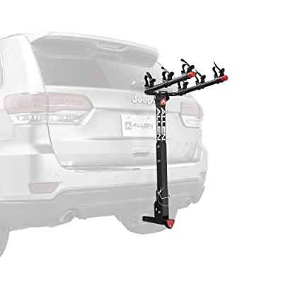 Allen Sports Deluxe Locking Quick Release 3-Bike Carrier for 2 in. & 1 4 in. Hitch, Model 532QR, Black : Sports & Outdoors