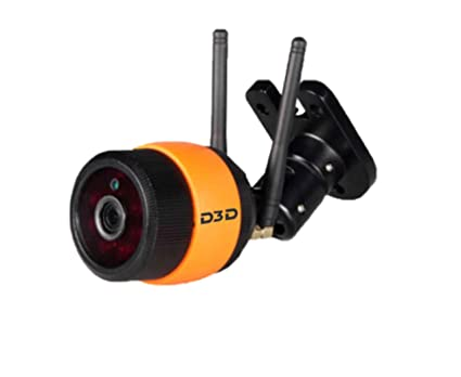 camera de surveillance orange