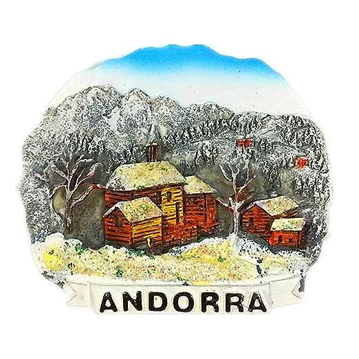 Hqiyaols Souvenir Atracción turística Andorra Refrigerador 3D Imán ...