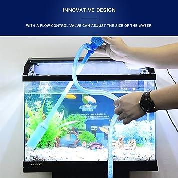 Mallalah Acuario Limpieza Kit de Bomba para el Tanque de Peces Agua Cinta de Control de