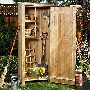 All Things Cedar GH20U Storage Hutch and Storage Shed