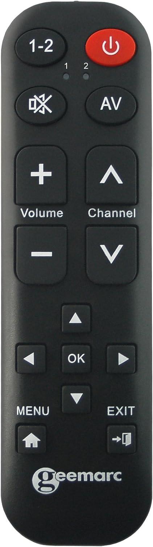 Geemarc Tv 15 Blk Lernfähige Universalfernbedienung Mit Elektronik
