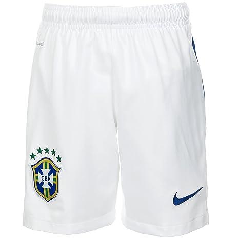 3f5854b71d4b Nike 2014-15 Brazil Away Shorts (White) - Kids  Amazon.co.uk  Sports ...