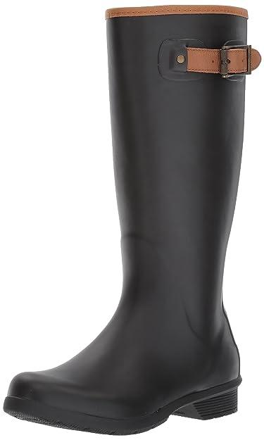 Chooka Womens Tall Memory Foam Rain Boot       Black
