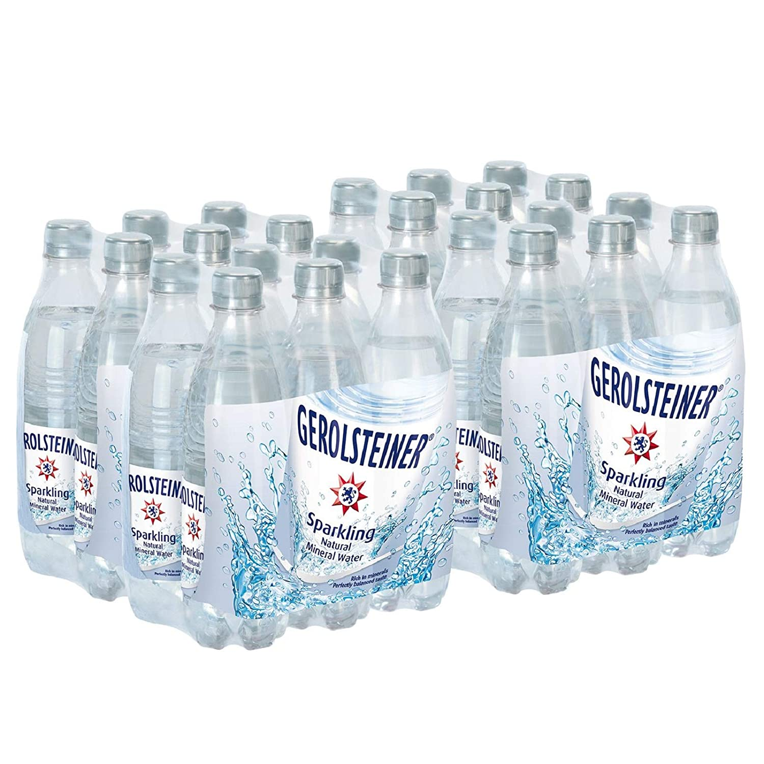 Gerolsteiner Naturally Sparkling Mineral Water,16.9oz, 6 Per Pack (Pack of 4)