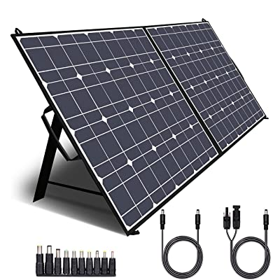 TWELSEAVAN 100W Portable Foldable Solar Panel Charger for Jackery Explorer 160/240/500 Power Station/Suaoki/Goal Zero Yeti/Rockpals/Kyng Power Solar Generator, with USB QC3.0 Port, USB Type C Port: Home Audio & Theater