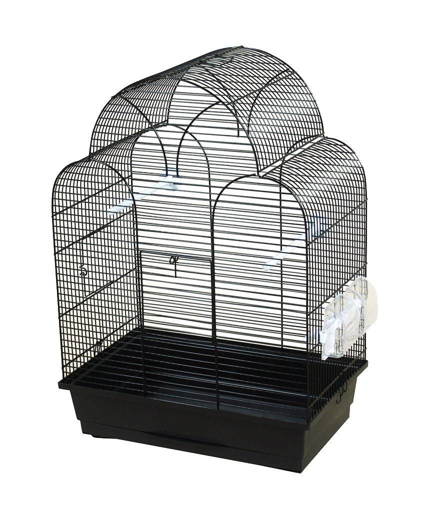 DUVO + 493/134 Jaula Negro con Accesorio para pájaro: Amazon.es ...