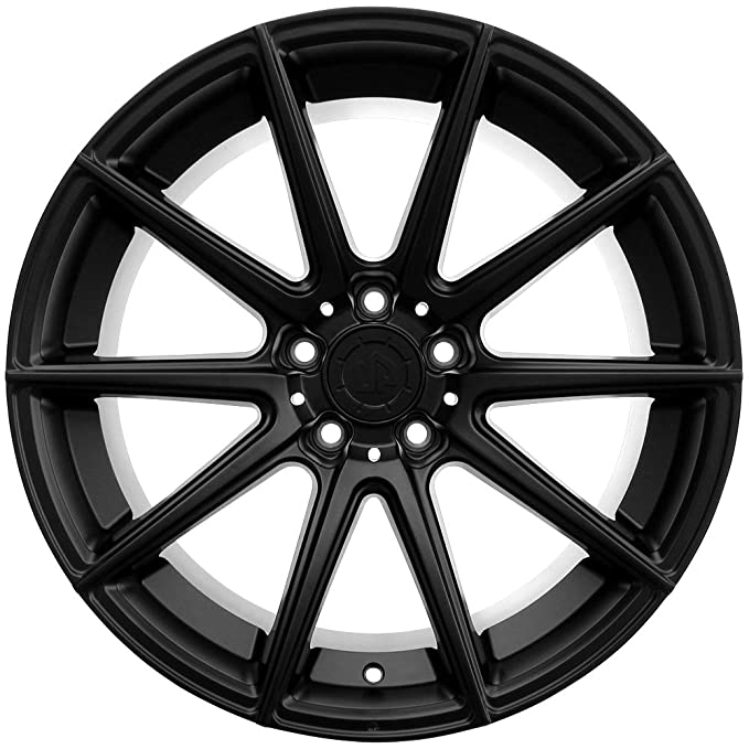 Amazon Com 19 Up100 Staggered 5x114 3 Wheel Set In Matte Black