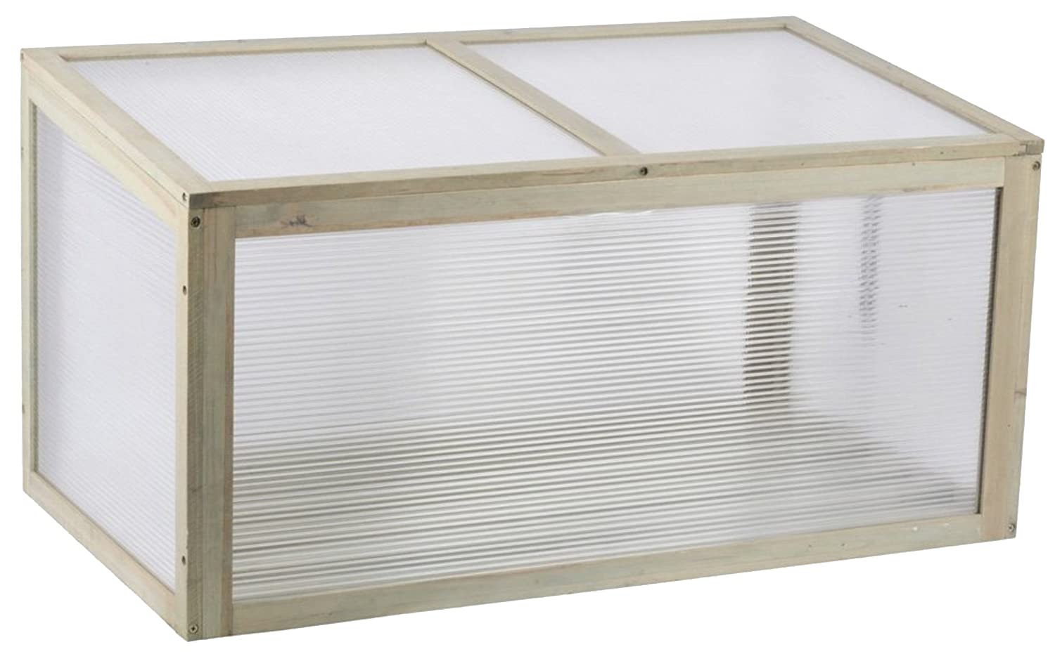 NEW 90Cm Natural Wood Greenhouse Wooden Frame Polycarbonate Panels Ideal For Germinating Seed Flower Plants Vegetable perfect planter box with lid Wheels N Bits