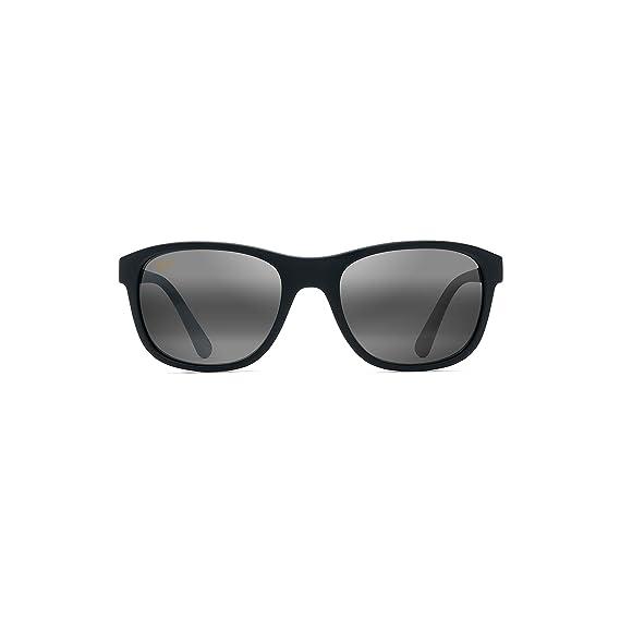 acd1de9f521 Maui Jim Maui Wakea 745-02MR Mens Womens Sunglasses Matte Black Rubber -  Color  Matte Black Rubber  Amazon.co.uk  Clothing