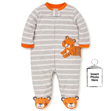 1f2a5df00f Image Unavailable. Image not available for. Color  Little Me Winter Fleece Baby  Pajamas Footed Blanket Sleeper ...