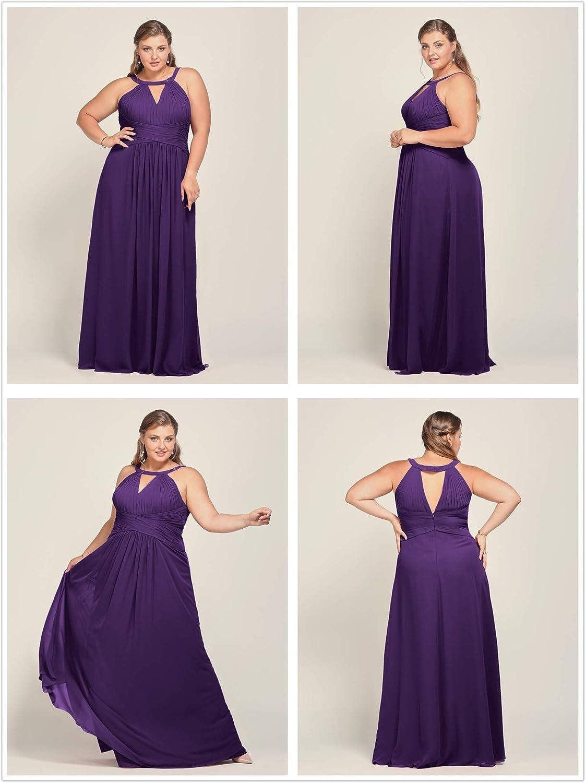 US2 Regency Alicepub Keyhole Neckline Chiffon Bridesmaid Dress Long Formal Evening Prom Gown