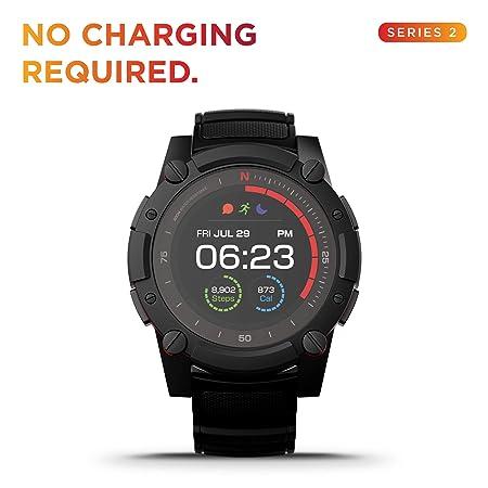PowerWatch 2 - Reloj Inteligente, Deportivo, Seguimiento de Rendimiento, Recarga Cero, Energía Solar y Térmica, Carga a Través del Calor Corporal