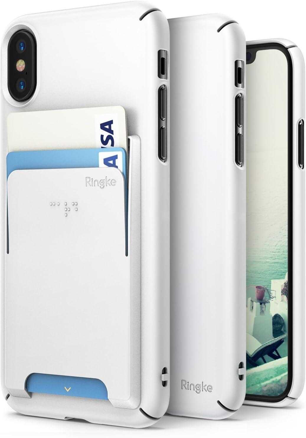Ringke Funda Apple iPhone X [Slim] [Kit de Accesorios Avanzado] [Ranura de Tarjeta de Cartera Conector] Precise Contour Ligero y con Clase Cubierta de Moda Conjunto para iPhone 10: Amazon.es: Electrónica