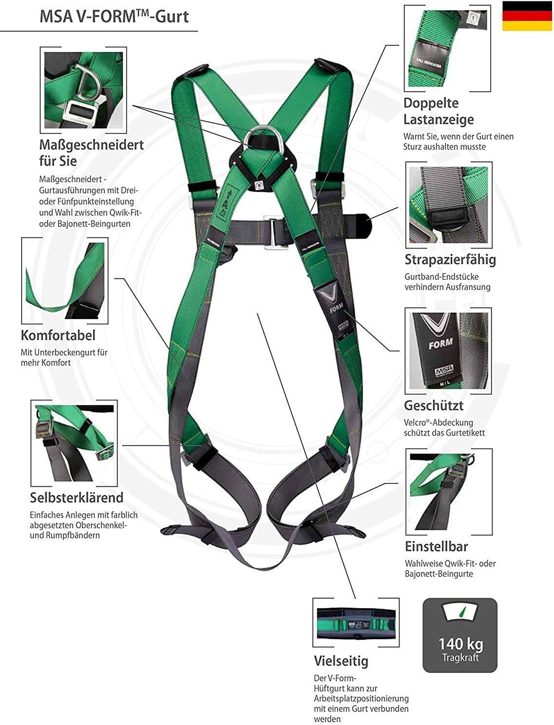 Kit ligero andamios MSA V-Form   Set protección anticaídas   Kit ...