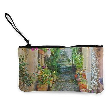 Amazon.com: Monedero de lona colorido y estrecho de la calle ...