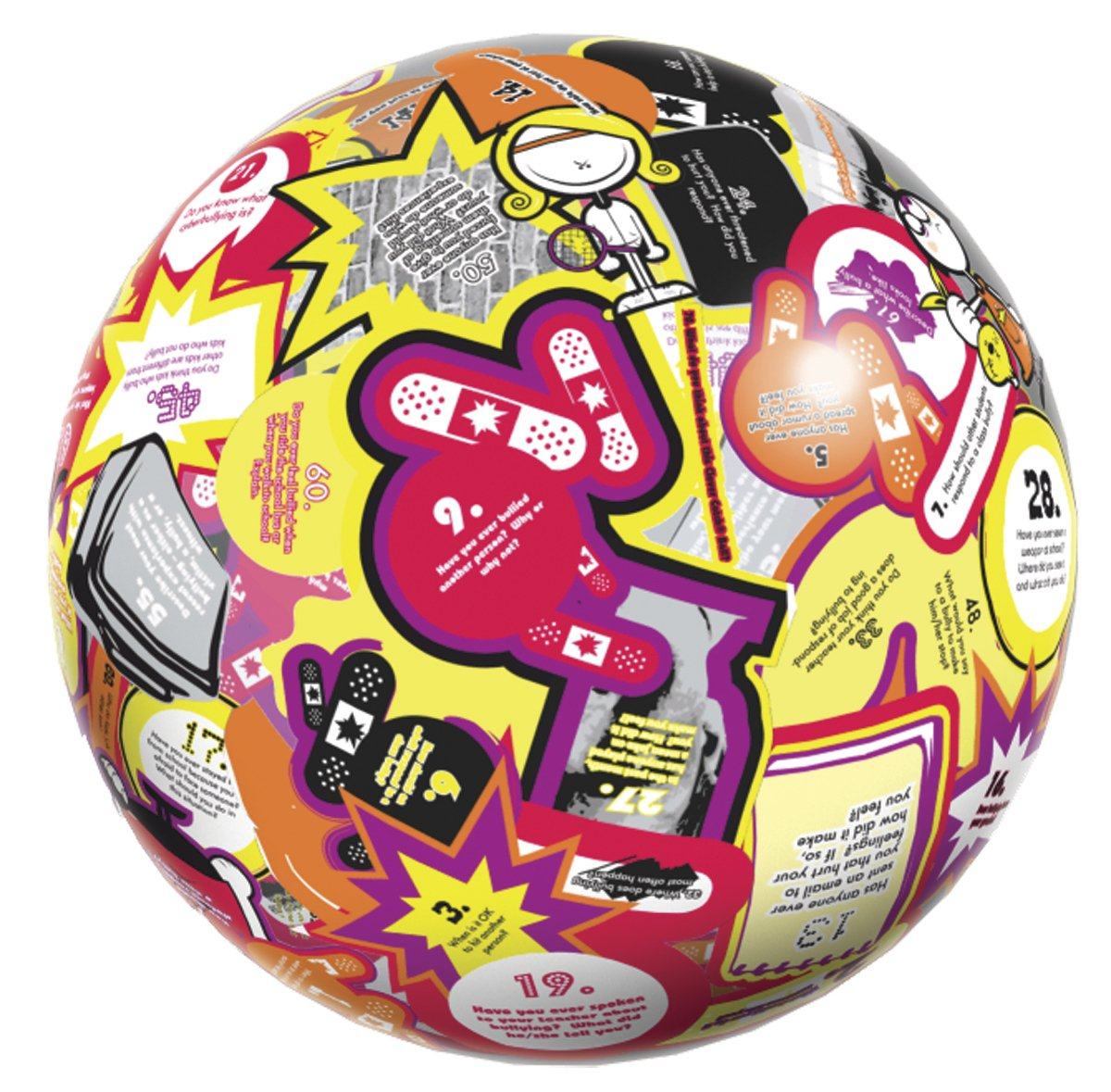 American Educational Vinyl Clever Catch Bullying/Anger Management Ball, 24'' Diameter