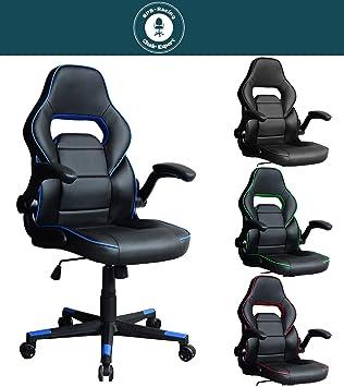 Gambler Schreibtischstuhl Stuhl Bürostuhl Gaming Chefsessel Racing Office Sps Chairschwarzblau Drehstuhl Zocker CQtrxhds