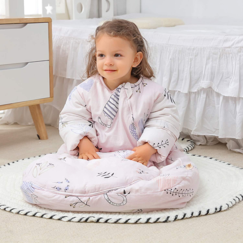 M//Koerpergroesse 60-70cm Baby Winter schlafsack Kinder schlafsack 3.5 Tog Schlafsaecke aus Bio Baumwolle Verschiedene Groessen von Geburt bis 3 Jahre alt