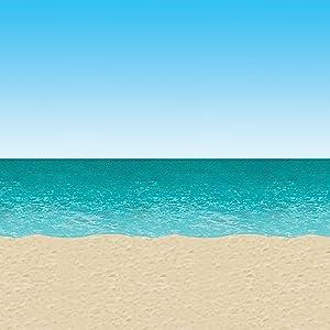 Ocean & Beach Backdrop Party Accessory (1 count) (1/Pkg)