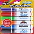 Cra-Z-Art Kids Washable Broadline Dry Erase Markers, 6 Count