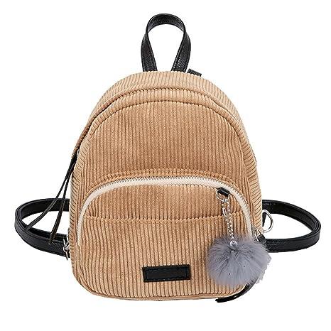Women's Bags Womens Corduroy Mini Backpack Girls Rucksack Small Travel Shoulder Bag Adjustable Corduroy Ladies Fashion Backpack Easy To Repair