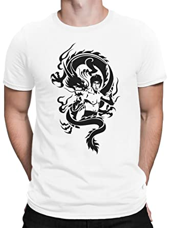 vanVerden Camiseta Hombre Artes Marciales Dragón Tatuaje Artes ...