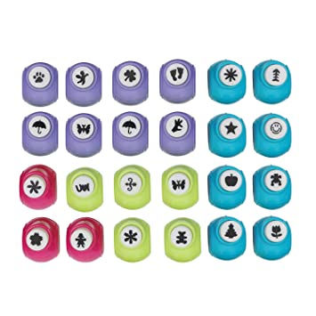 Large 24 Piece Craft Paper Punch Set By Curtzy Scrapbook Paper
