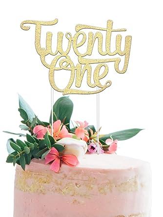Merry Expressions - Decoración para tarta de 21 cumpleaños ...