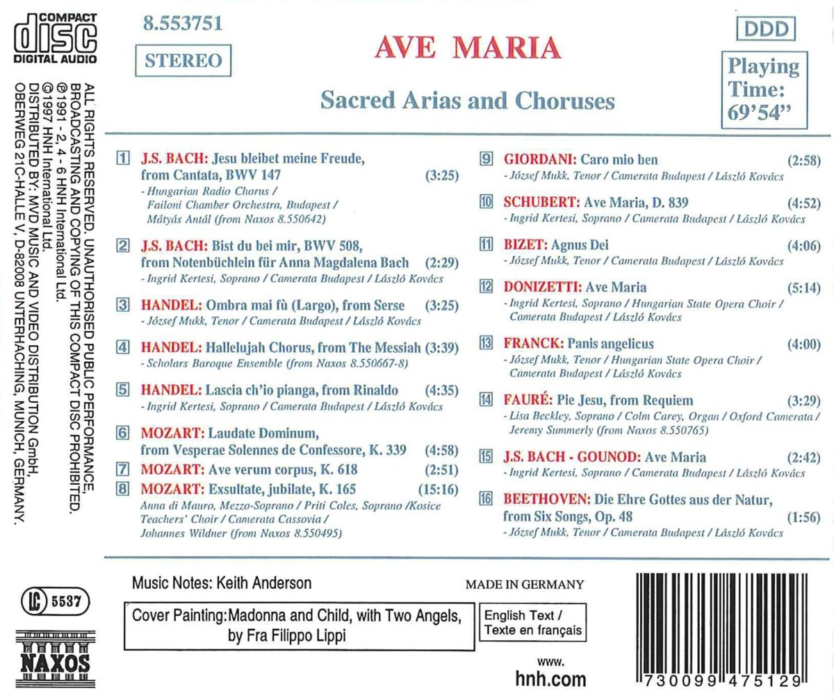 Johann Sebastian Bach - Ave Maria - Amazon.com Music