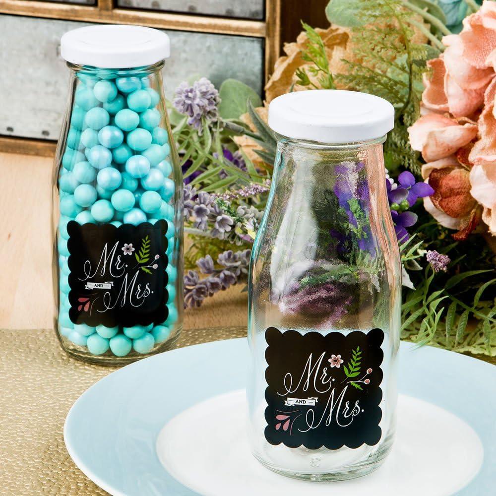 Fashioncraft Mr & Mrs Design - Botella de leche vintage, color negro: Amazon.es: Hogar