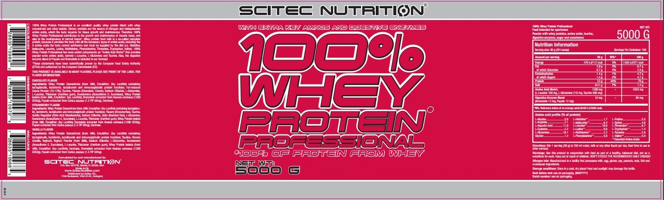 100% whey protein professional - 11 lbs - Chocolate - Coconut - Scitec nutrition