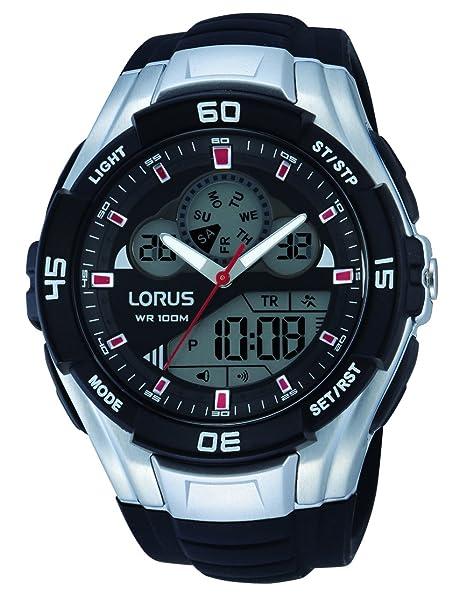 fe67929af Lorus R2387J Digital-Analog Alarm Chronograph Strap Watch: Amazon.ca:  Watches